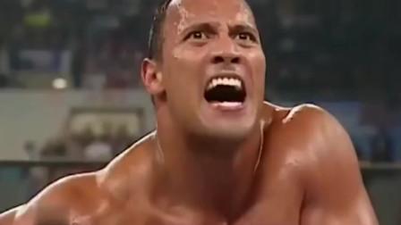经典一战,巨石强森vs布洛克,强森丝毫不惧半兽人!