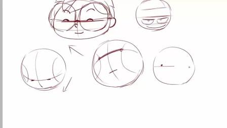 Q版漫画人物视频教程 11头部的画法(三)