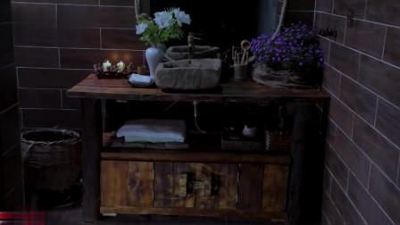 李子柒:旧物变新颜,古朴的纯手工实木洗手台!