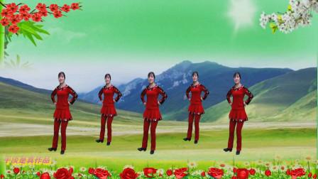 健身舞《草原之恋》草原歌曲  演示制作 平淡是真