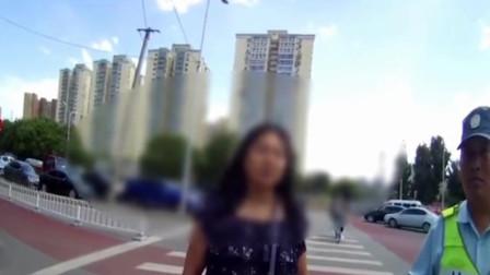 女子交通违章不听劝阻 怒怼交警:得罪我 ,有你好果子吃
