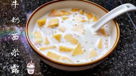 牛奶西米露的家常做法,简单易学,夏季最好吃的甜品