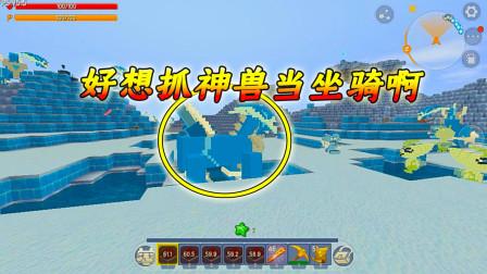 迷你世界神奇宝贝6:这只神兽很帅很酷,好想把它当做坐骑啊