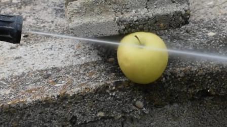 高压水枪能切开苹果吗?看这威力,隔着屏幕都脊背发凉