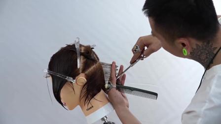 女生超短发发型剪发教程,赶快来学一下!