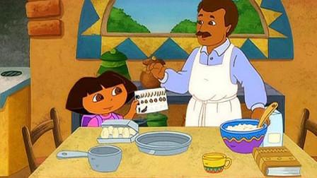 朵拉要和爸爸给妈妈做惊喜蛋糕,可是缺了三种材料,你能帮忙吗?