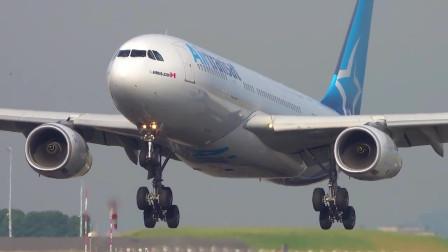 常见客机机型,实拍空客A330-200降落!
