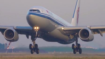 中国国际航空A330-200着陆实拍,坐过吗?