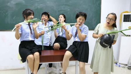 学生挑战吃大葱赢绝地求生装备没想被女同学一口气吃完太逗了