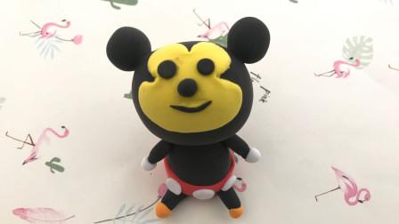 超轻粘土制作教程,小姐姐教你做可爱米老鼠,简单易上手,快学起来吧