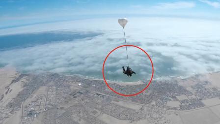 刺激!体验世界6大跳伞圣地纳米比亚,鸟瞰沙漠与海洋并存奇观