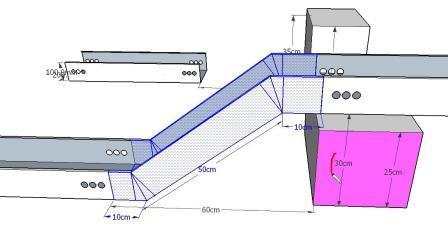 桥架弯头制作教程上下爬坡弯头计算爬高的公式两种不同情况
