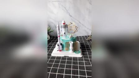 宇航员主题生日蛋糕, 送给男孩的爱, 流浪地球