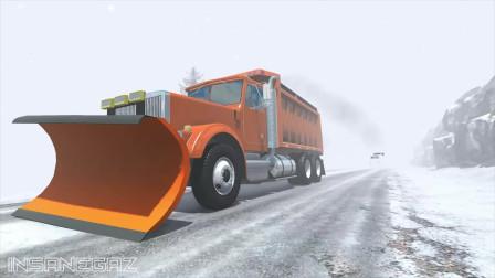 BeamNG车祸模拟:驾驶重型运输事故