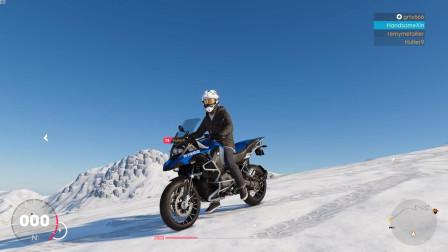 飙酷车神2:开宝马水鸟去雪山越野,要不是运气好保险就生效了