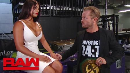 【RAW 07/08】24/7冠军德瑞克和老婆的甜蜜时刻 被一帮大老爷们打扰