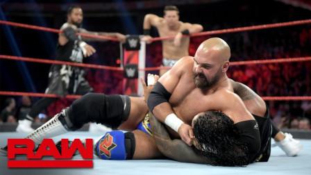 【RAW 07/08】三局两胜赛 米兹搭档乌索兄弟对阵复兴者和伊莱亚斯
