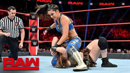 【RAW 07/08】争分夺秒赛第一场 贝莉遇强敌莎拉罗根 耗时4分32秒