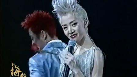 2002极梦幻演唱会梅艳芳接受采访,这气场真是强大