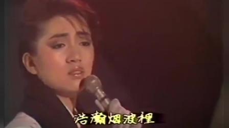 当年短发的梅艳芳尽显帅气,一首《似水流年》真是好听