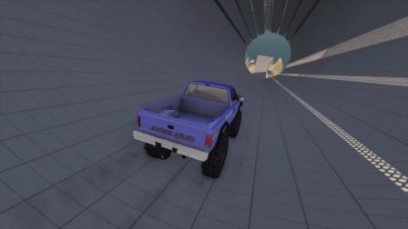 BeamNG车祸模拟:跑车高速跳跃