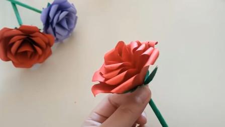 超简单的玫瑰花折法简单易学  关键漂亮女生都喜欢!