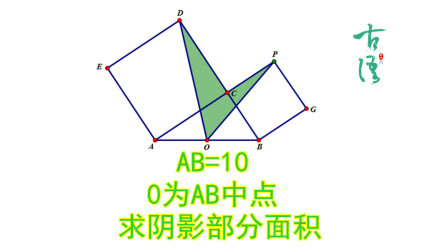 初中数学,求阴影部分面积,难倒了班上的尖子生,如何切割面积是关键