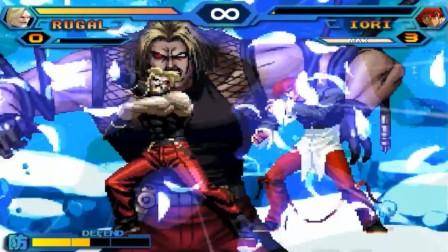 拳皇乱斗:卢卡尔5种超杀欣赏,上阵父子兵之终极合体技双打八神