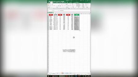 Excel办公小技能, wps 神技能