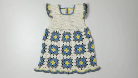 儿童背心裙,钩针钩编,款式大方,花样精致,很漂亮的创意作品花样f97KOB