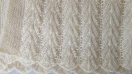 毛衣棒针编织花样,竖向布局,像麦穗精致漂亮,可织打底衫或套衫