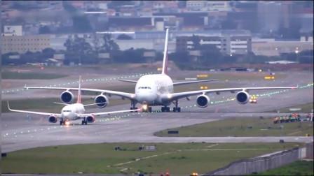 一个视频告诉你,空客A380到底有多大,父亲带儿子的即视感