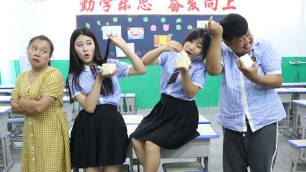 老师让学生用头发切豆腐,一刀切成5大块10小块,女同学轻松完成