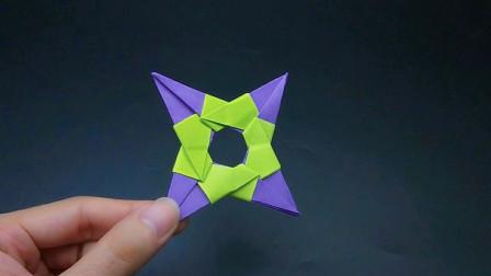 好玩不伤人的飞镖新做法,可以飞得快又远,简单手工折纸