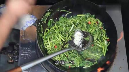 蒜香茼蒿的做法,味道独特好吃,做法简单易学