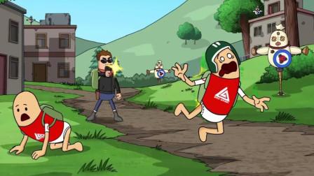 搞笑吃鸡动画:瓦特动员所有人联合对付大魔王,可大魔王一枪没开躺着吃鸡