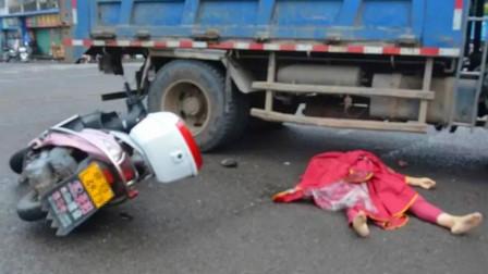 【赣州】货车与摩托车发生碰撞 致摩托车主当场
