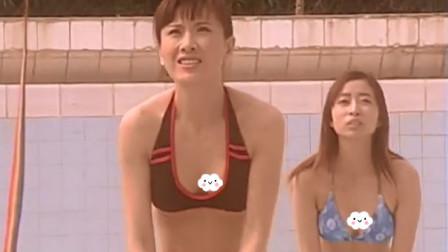"""""""清一色""""的美女穿泳装在泳池来打排球,网友:美景,男人的天堂!"""