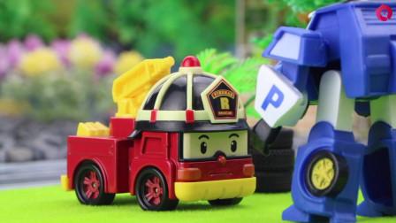 消防车罗伊的轮胎坏了,他来到斯普奇的维修店