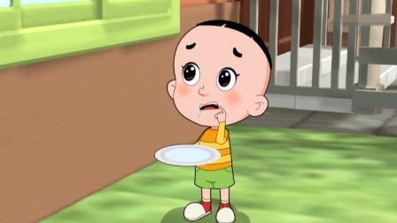 大头给爸爸和毛叔送来了蜂蜜乳酪蛋糕,结果他自己看着流口水了!