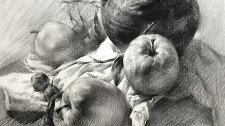 中国美术学院状元导师团队精心打造美术高考教学视频,杭州画室厚一学堂素描名师麦粲杰静物教学视频