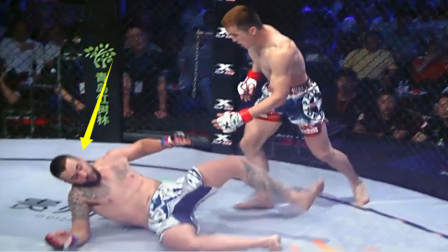 """强敌激怒24战20胜中国""""铁金刚"""",结果90秒就被KO,裁判看怕了"""