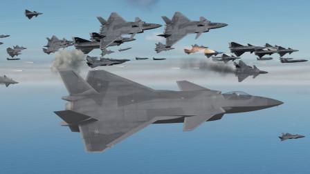 100架歼20出击!能否拦截150架F22跟240枚巡航导弹的攻击?战争模拟