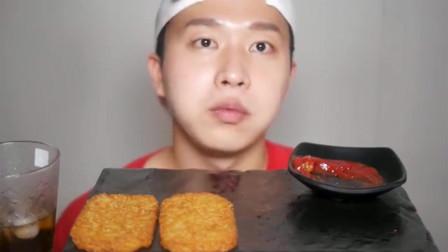 韩国吃播 美食吃货海旺小哥 薯饼 韩国吃播 美食吃货海旺小哥 薯饼