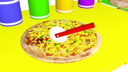 趣味益智动画片 制作培根芝士披萨
