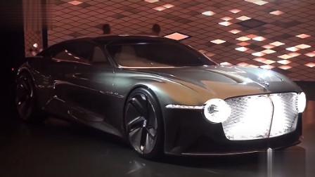宾利Bentley EXP 100概念车实车视频,外形即酷炫又科技