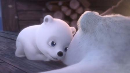 小北极熊躲过猎人的子弹找到妈妈,却不知妈妈只剩下一张熊皮