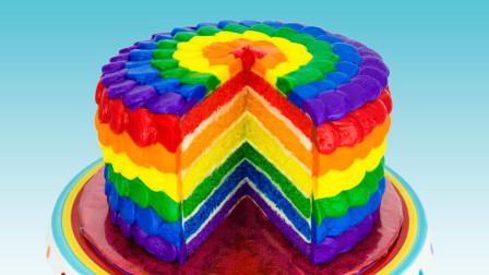 """""""彩虹蛋糕""""的制作教程,学会在家也能做!"""