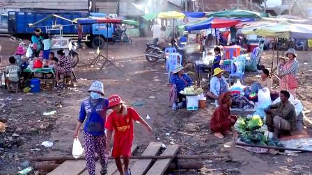实拍柬埔寨偏僻乡镇,柬埔寨人的生活是什么样子?