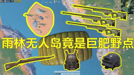 和平精英:雨林无人小岛的石头下藏着信号枪?前去一看物资肥得吓人!